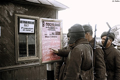 Soviet soldiers near Stalingrad (Za Rodinu) Tags: world 2 man men history vintage soldier war gun russia military rifle rifles front german weapon ww2 soldiers historical guns 1942 1945 rare troops 1944 1943