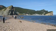 land bridge (Ultrachool) Tags: canada beach landscape seaside rocks quebec rocky shore beaches gaspesie perce gaspepeninsula cans2s