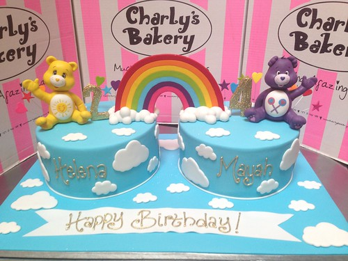 Swell Combined 2Nd 4Th Care Bears Themed Birthday Cakes Decorated With Birthday Cards Printable Benkemecafe Filternl
