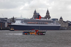 Published in The Ellesmere Port Pioneer 27/5/2015 (David Chennell - DavidC.Photography) Tags: liverpool queenmary2 cunard snowdrop merseyside liverbuilding rivermersey merseyferry