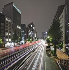 Takaracho (spiraldelight) Tags: night tokyo  traffictrails   eos5dmkii tse17mmf4l