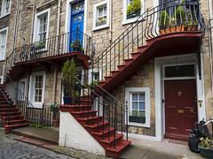 tenements (davidnofish) Tags: uk windows stairs scotland edinburgh steps victorian courtyard olympus flats period tenements em1 m1240mm