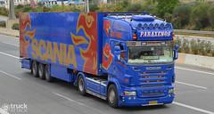 """Scania R V8 """"Paraxenos"""" (ex Jens Bode) (Avramidis_Alex) Tags: ex truck fridge tl transport hellas greece international jens lorry camion r bode gr v8 scania frigo refrigerated lkw topline   paraxenos"""