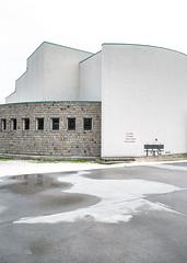 492 (Stadtromantikerin) Tags: italy reflection church architecture modern puddle concrete graffiti veneto