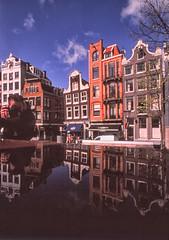 Reflections @ Amsterdam (PaulHoo) Tags: holland reflection building film netherlands amsterdam architecture analog 35mm nikon velvia 50 f5 2016