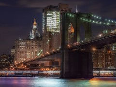 Brooklyn Bridge (karinavera) Tags: city nyc longexposure travel bridge urban newyork brooklyn night cityscape nikond5300