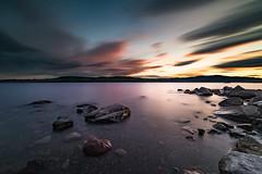 jessy-1 (Odar Gofot) Tags: sunset lake reflection water norway sunrise rocks lakescape