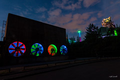 Ventilatoren (r.oland) Tags: nachtaufnahmen landschaftsparkduisburglapadu ruhrpottfototour2016