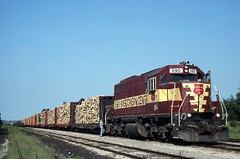 Long Summer Evenings at Soo Yard (ac1756) Tags: michigan wc 1995 34 saultstemarie wisconsincentral emd sdl39 590 sooyard