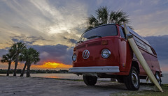 Time to Chill (wizsnap) Tags: sunset beachlife chillin vwbus 73bus jensenbeach