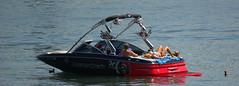 Weekend Leisure Activities (swong95765) Tags: man water river am speedboat relaxing ducks craft leisure wo suntanning mastercraft
