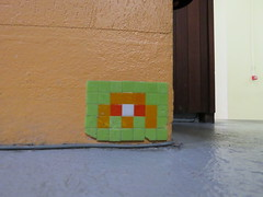 Space Invader GRN_55 (tofz4u) Tags: orange streetart france green grenoble tile mosaic spaceinvader spaceinvaders vert invader 38 franky mosaque insider isere artderue ecoledesbeauxarts isre grn55