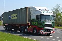 Eddie Stobart Scania H2246 PO15UMT - Widnes (dwb transport photos) Tags: truck widnes hgv eddiestobart zoegrace h2246 po15umt