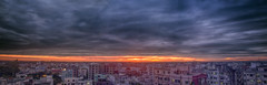 Panoramic sunset... (mk mahi photography) Tags: sky urban panorama colors clouds canon landscape twilight cityscape dramatic dhaka bangladesh hdr 70d