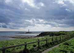 St.Mary`s lighthouse from Old Hartley (patf73) Tags: sea lighthouse