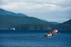 En Route (Prestidigitizer) Tags: ocean sea mountain water ferry wake waves bc britishcolumbia coastal tugboat passage current sunshinecoast salterybay pentaxda50135mm pentaxk3