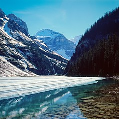 Lake Louise - Banff Canada (amilic) Tags: snow canada mountains ice water fuji 120film hasselblad velvia banff lakelouise velvia50