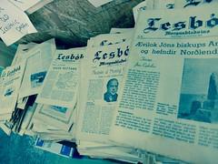 Kolaportid flea market. Reykjavik, Iceland (Jamie Finlay Macdonald) Tags: iceland market newspapers reykjavik flea fleamarket kolaportid