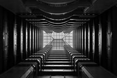 Spatial tunnel (Sabrou Yves Photograff) Tags: blackandwhite art hotel sevilla perspective sigma center