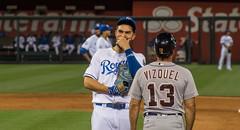 giggles (severalsnakes) Tags: baseball pentax zoom stadium detroit diamond kansascity missouri tigers kc mlb royals ks2 kauffman firstbase majorleague a702104 erichosmer saraspaedy