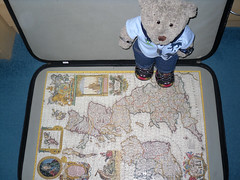 Funny ole map (pefkosmad) Tags: bear ted toy stuffed soft teddy hobby plush puzzle leisure jigsaw complete pastime tedricstudmuffin