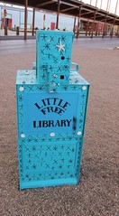 Little Free Library (suenosdeuomi) Tags: newmexico santafe library railyard repurposed freelibrary canons90 littlefreelibrary