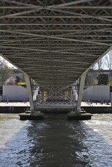 Under the Passerelle Debilly (carolyngifford) Tags: bridge paris riverseine passerelledebilly