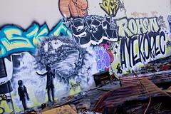 Bandit Wreckage of War5 (Brett Landrum) Tags: california street urban streetart abstract art abandoned canon photography graffiti photo losangeles los stencil angeles abstractart spray urbanart abandonedhouse spraypaint bandit vernon stencilart dtla graffitiart sprayart canon7d banditstreetart banditart