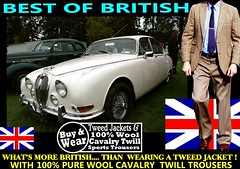 Best Of British Old Car 10 (Tweed Jacket + Cavalry Twill Trousers = Perfect) Tags: old england man london classic cars car wales canon scotland clothing vintagecar britain coat text tie oldschool retro clothes vehicles mens vehicle trousers northernireland jag british oldcar carshow cavalry tweed menswear harristweed tweeds tweedjacket tweedcoat vintagecarclub cavalrytwilltrousers tweedjacketphotos houndtoothtweed