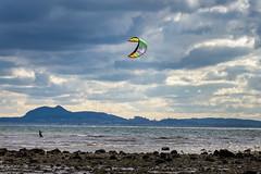 kitesurfer at Longniddry (SamRoss1) Tags: sea kitesurfing longniddry