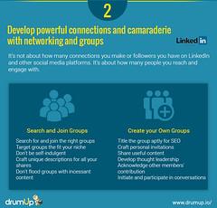 Linkedin Marketing Guide: LinkedIn Groups (Social Media & Content Curation Platform) Tags: design marketing media flat content social monitor company guide groups linkedin analytic marketingguide infographs drumup