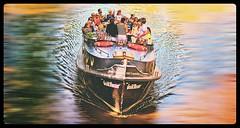 ET LA NAVE VA (bert  bakker) Tags: people water amsterdam boot boat joy drinking drinken mensen reguliersgracht pleziervaart