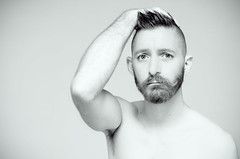 (Damien Cox) Tags: uk gay portrait blackandwhite bw selfportrait man male me face self ego myself naked beard mono eyes nikon sad arm masculine ears moi moustache lonely autorretrato feelings brokenheart scruff stubble greyscale i damiencox damiencoxcouk