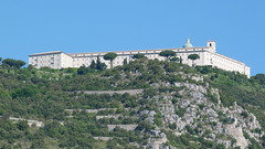 Monte Cassino - the Commonwealth War Cemetery, abbey zoom