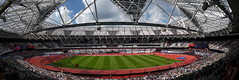 Waiting for the Games (Worthing Wanderer) Tags: olympicstadium london anniversary games athletics stratford sunny july sport