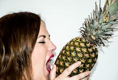 Pineapple Session (@dei.vid) Tags: studio fruit hungry cute beauty pia pineapple portrait girl