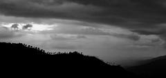NIGHTFALL (SLB&W) Tags: bw mountain landscape evening blackwhite shadows view nightfall