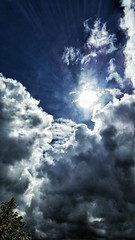 sky sun tree clouds scotland perspective cellphone... (Photo: Mark.L.Sutherland on Flickr)