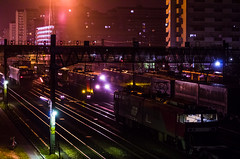 Rush Hour (tsuna72) Tags: railroad japan night pentax railway  locomotive fukuoka locomotives freighttrain  jrf   electriclocomotive eh500 jrfreight k30  electriclocomotives jr pentaxk30