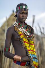 Washare from the Hamer tribe in Logara, near Turmi, Omo Valley, Ethiopia