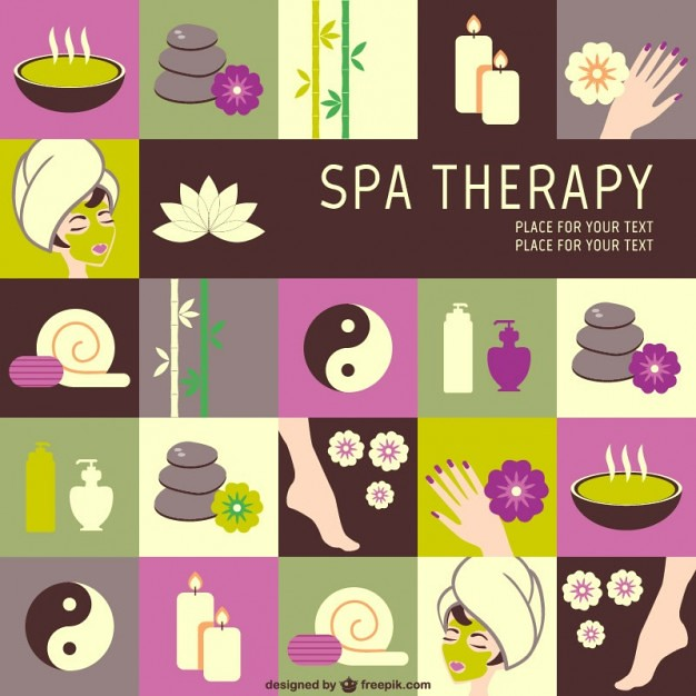 Spa Therapy Graphics Free Vector