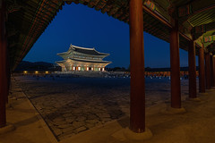 A Night in the Palace (Brian Hammonds) Tags: city travel urban color tourism beautiful beauty architecture night contrast asian outside outdoors photography photo ancient nikon asia photographer image dusk sightseeing picture culture places palace korea tourist historic adventure explore korean photograph seoul traveling foreign southkorea gyeongbokgung d800 traveler gyeongbukgong