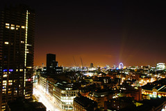 Roof of YMCA Barbican (LiamCH) Tags: city roof urban london night cityscape view nightscape barbican urbanexploration metropolis hacking cityoflondon urbex rooftopping