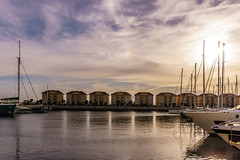 Queensway Quay (Jayden Benyunes Photography) Tags: sea house reflection water beautiful marina reflections boats yacht sony quay villa yachts moor gibraltar lightroom moored 2015 queensay a6000