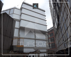 The Barts and London concrete structure weather protection - Tufcoat Shrink Wrap