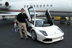 Larry Final Touch Up on Lamborghini Murcielago