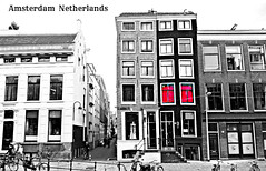 Selective color (Red curtains) (Vieparamsberlon.) Tags: street old city travel red holland building classic tourism window netherlands dutch amsterdam bicycle architecture store model europa europe european dress euro landmark tourist womens promenade architektur metropolitain melancholy paysbas modell btiment fahrrad vlo vieux amstel 1012 niederlande straat brothels hollande altbau modle europen stil towne oudezijds achterburgwal  bordelle strase mtropolitain europisch  europeisk bordels hollndska