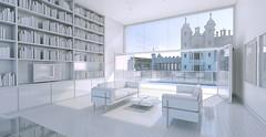 Interior - view towards Playfair Building