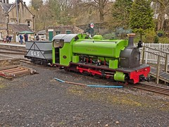 """The first official outing for """"Barber"""" at its returning to Steam Gala on South Tynedale Railway in Alston, Cumbria (penlea1954) Tags: england green museum francis industrial thomas no south yorkshire leeds railway steam gas company cumbria barber greens works locomotive 441 harrogate chairman society limited gauge gala narrow alston 062 tynedale"""