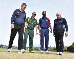 FRANCE V GUERNSEY - France win the toss and choose to bat first (icc_europe) Tags: uk italy france norway denmark cricket jersey icc guernsey sthelier bailiwickofjersey